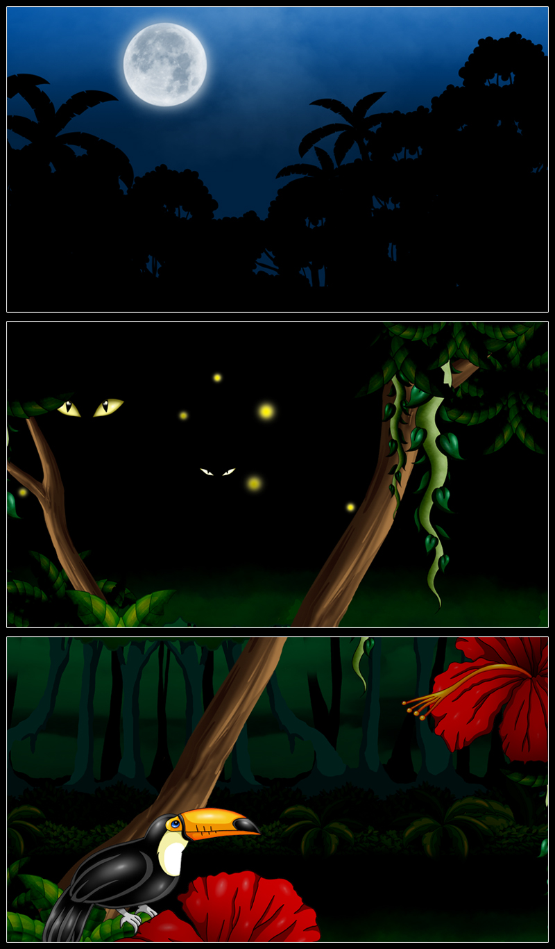 Animated jungle 2d game