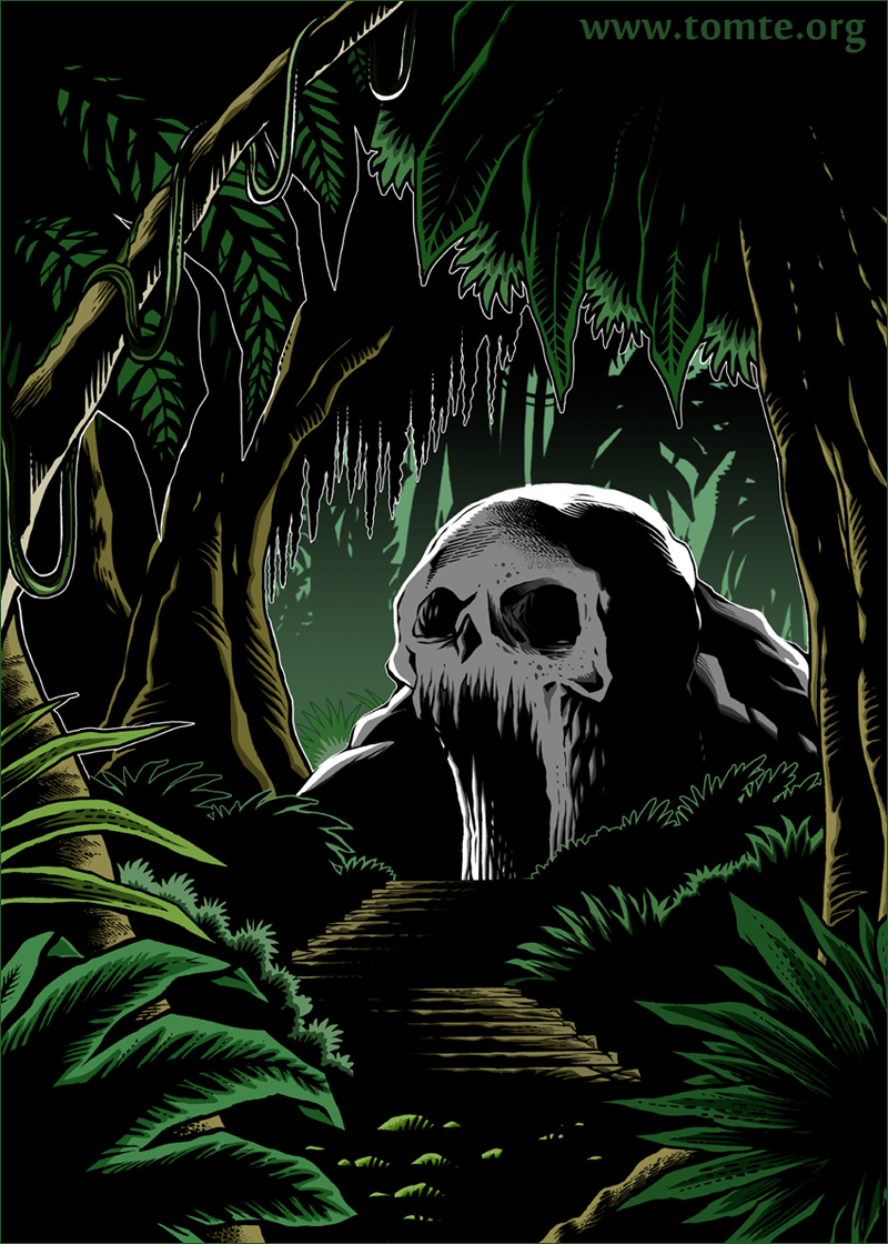 Jungle 2d game background