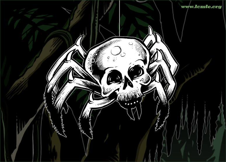 Skull Spider, game enemy concept art