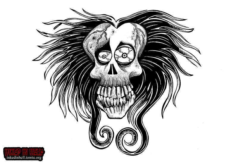 Tim Burton style skull