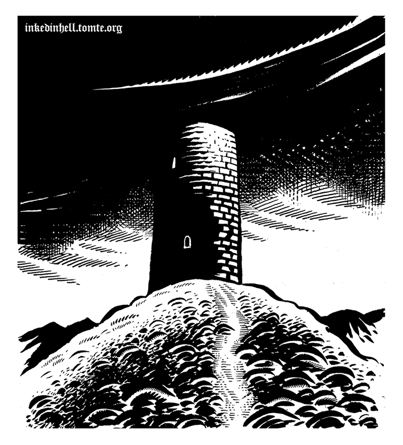 Lonely tower drawing