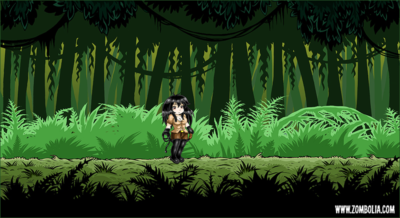 Jungle 2d game concept art